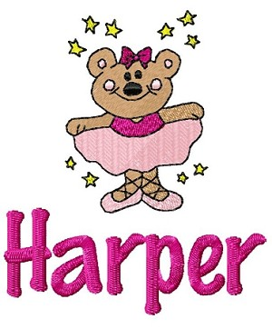 burp cloth - ballet bear
