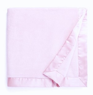 personalized baby blanket - pink fleece